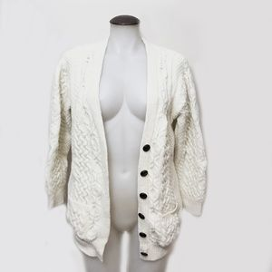 Merino Wool Sweater Cardigan From Ireland